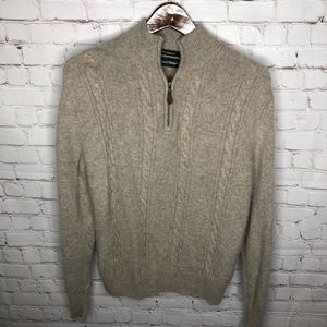 Daniel Bishop 100% Cashmere Cable Knit Sweater